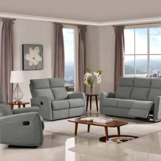 HR045G (K26) Husky Victoria Reclining Sofa Set Gray