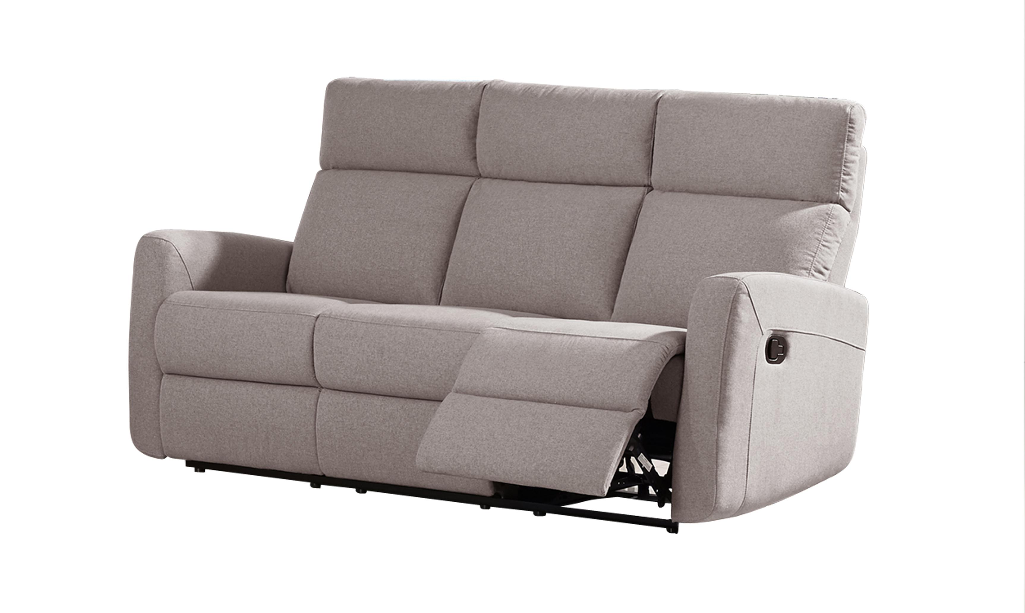 Victoria Reclining Sofa Fabric Code K30 Light Grey
