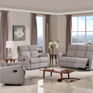 HR045LG (K30) Husky Victoria Reclining Sofa Set Light Gray