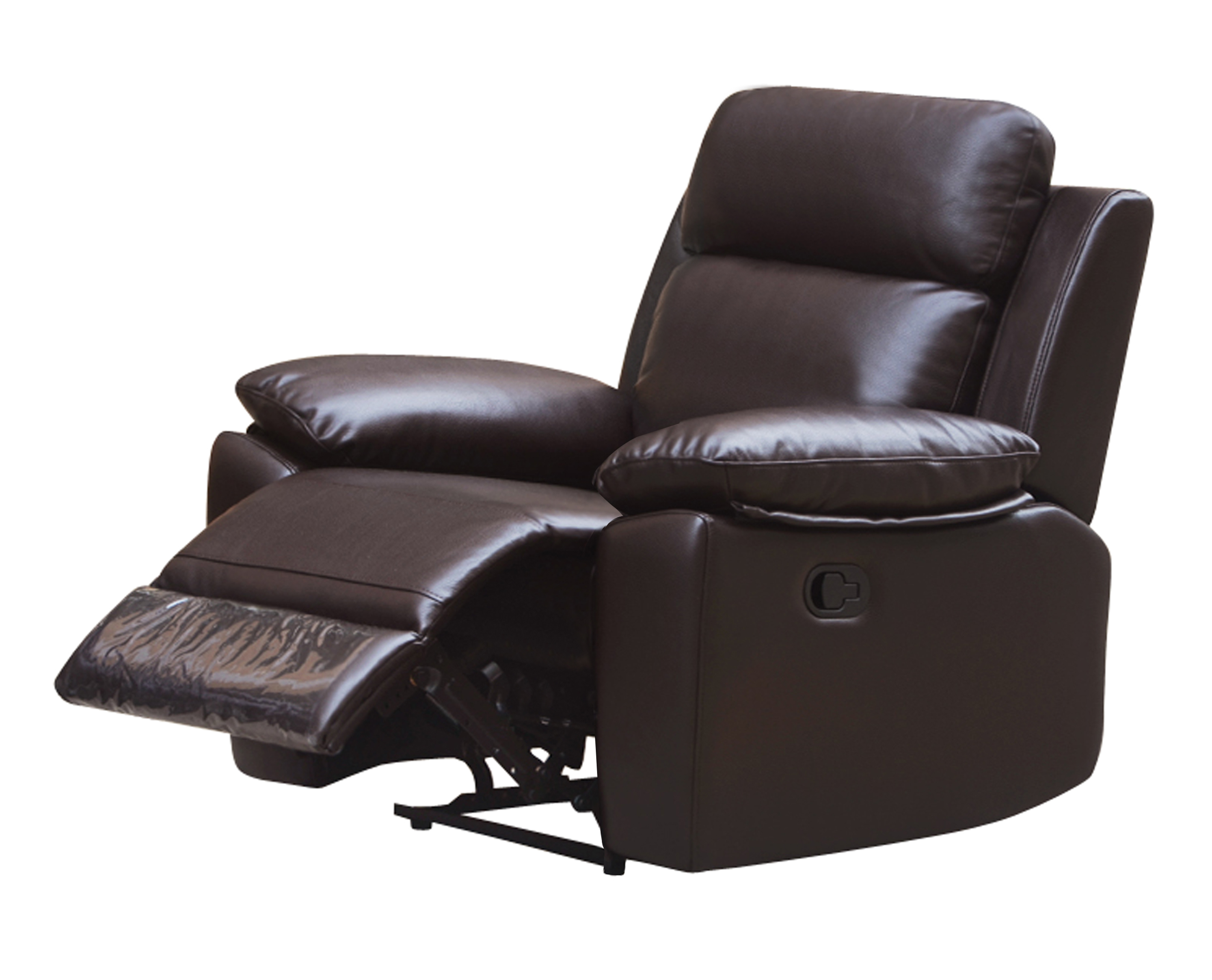 leo reclining chair leather air code g03 brown husky