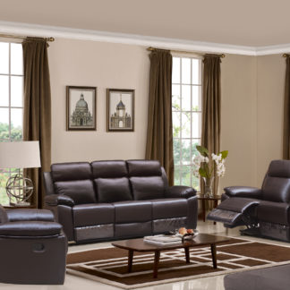 HR046B (G03) Husky Leo Reclining Sofa Set Brown