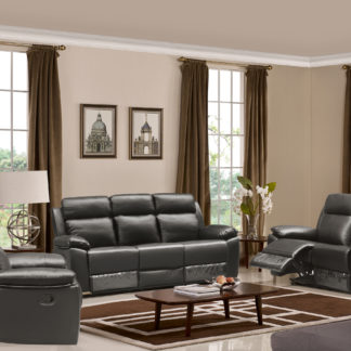 Leo Reclining 3-PC Sofa Set – Leather Air Code #  G03 Brown