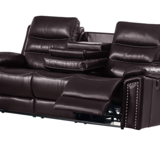 Jetson Reclining Sofa  – Leather Air Code #  G03 Brown