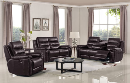 HR050 B (G03) Husky Jetson Reclining Sofa Set Brown