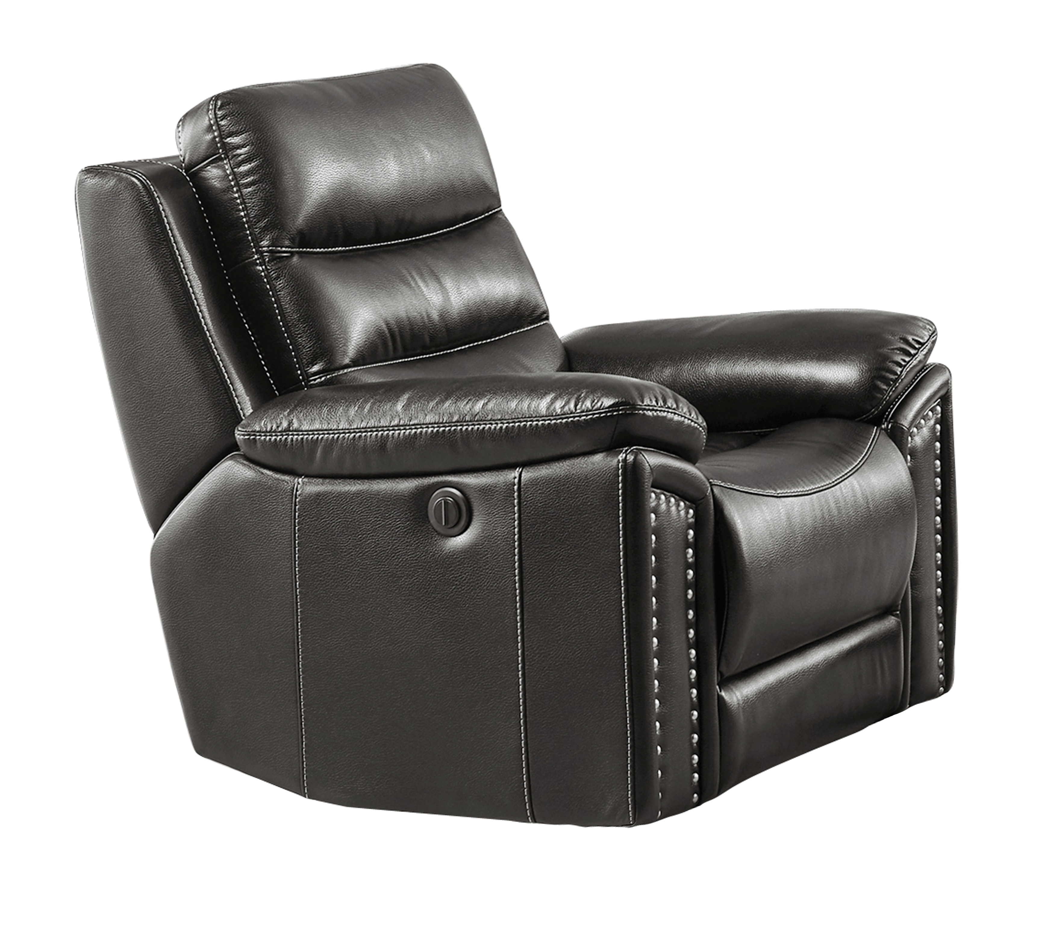 Jetson Power Reclining Chair Leather Air Code G12 Grey
