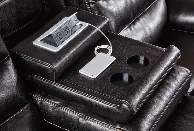 Husky 174 Jetson Power Reclining 3 Pc Sofa Set Leather Air