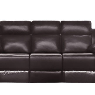 HR046B (G03) Husky Leo Reclining Sofa 3S Brown