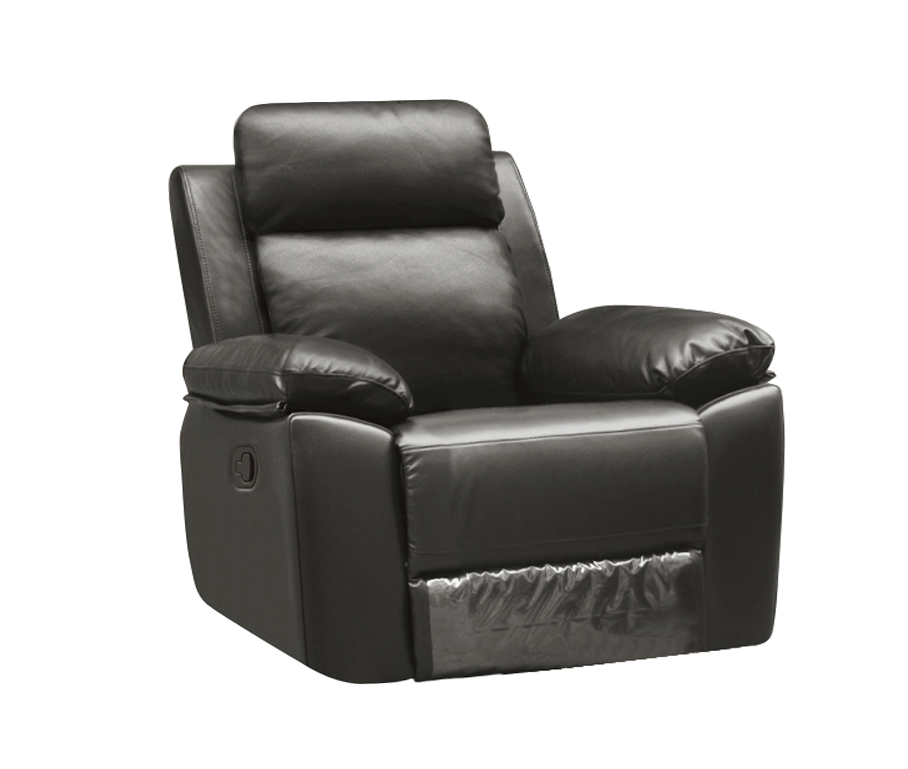 Leo Reclining Chair Leather Air Code G12 Grey Husky Furniture