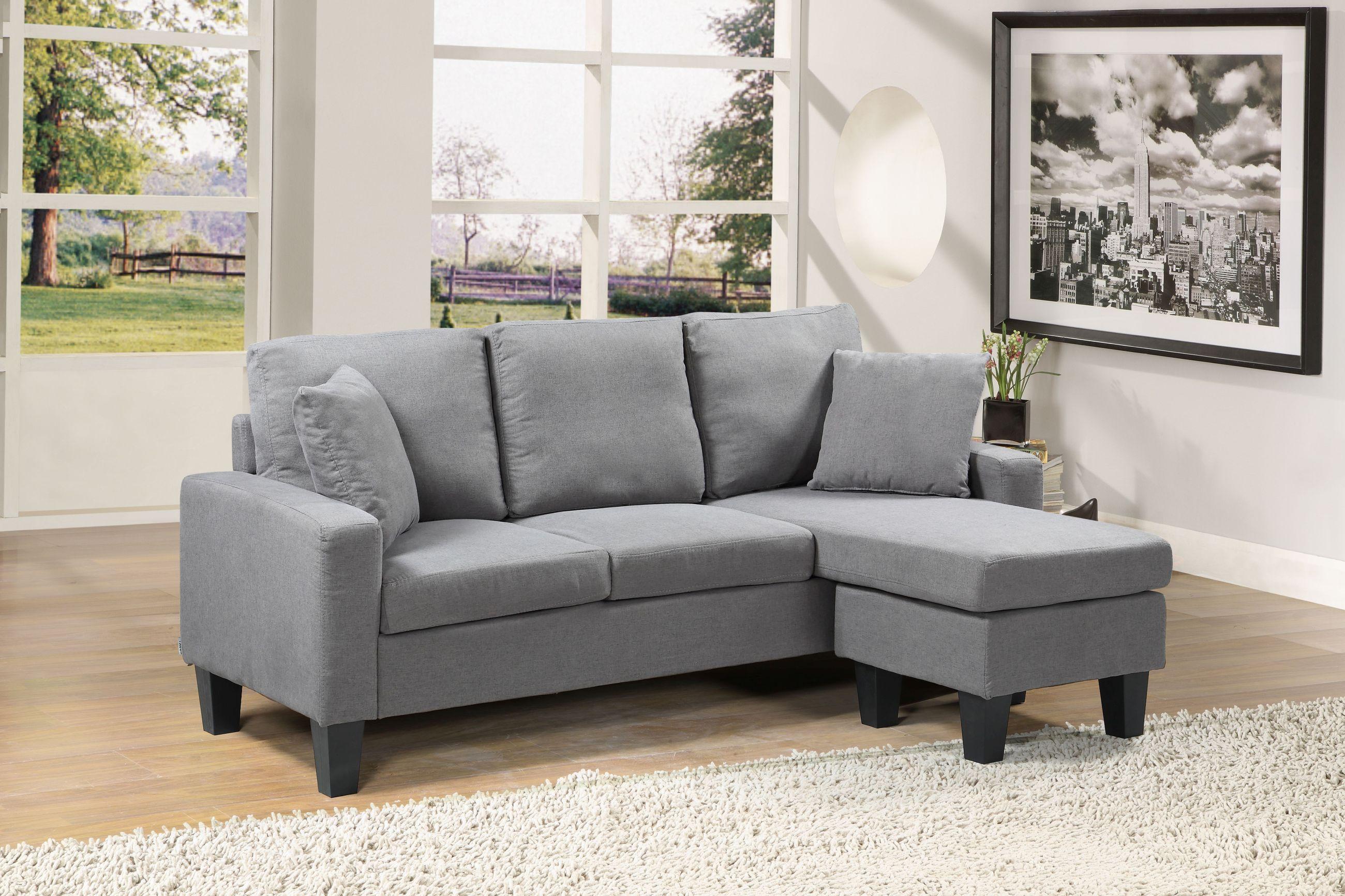Bella Reversible Sectional Sofa Charcoal Husky 174 Furniture