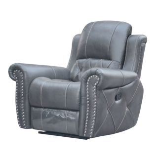 Hunter Reclining Chair – Leather Air Code #  G12 Gray