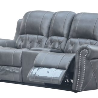 HR059-2RR (G12) Husky Furniture Hunter Reclining Loveseat Gray