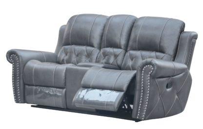 HR059-2RR (G12) Husky Furniture Hunter Reclining Loveseat Gray