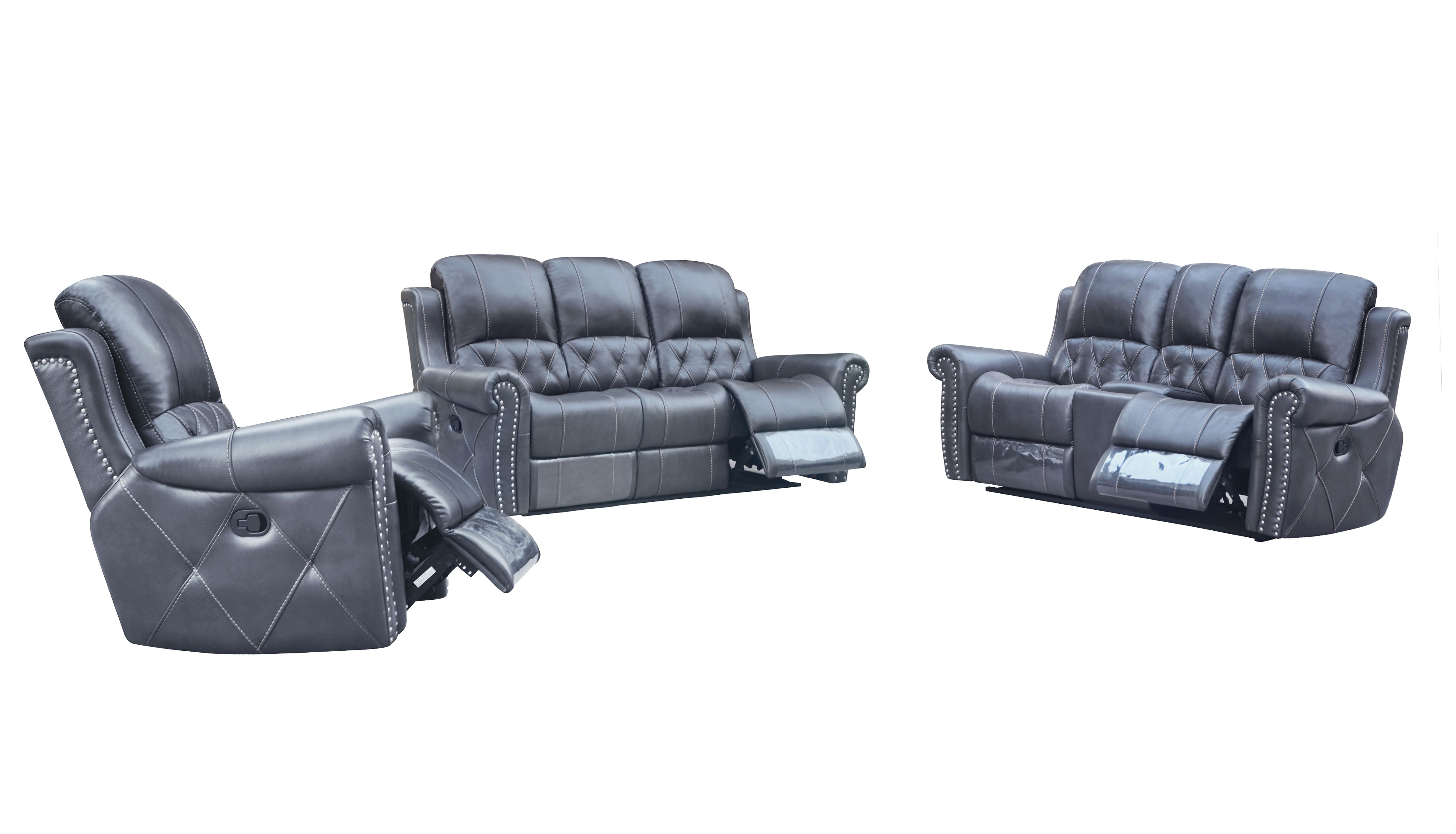 Hunter Reclining 2-PC Sofa and Chair Set - Leather Air Code # G12 ...