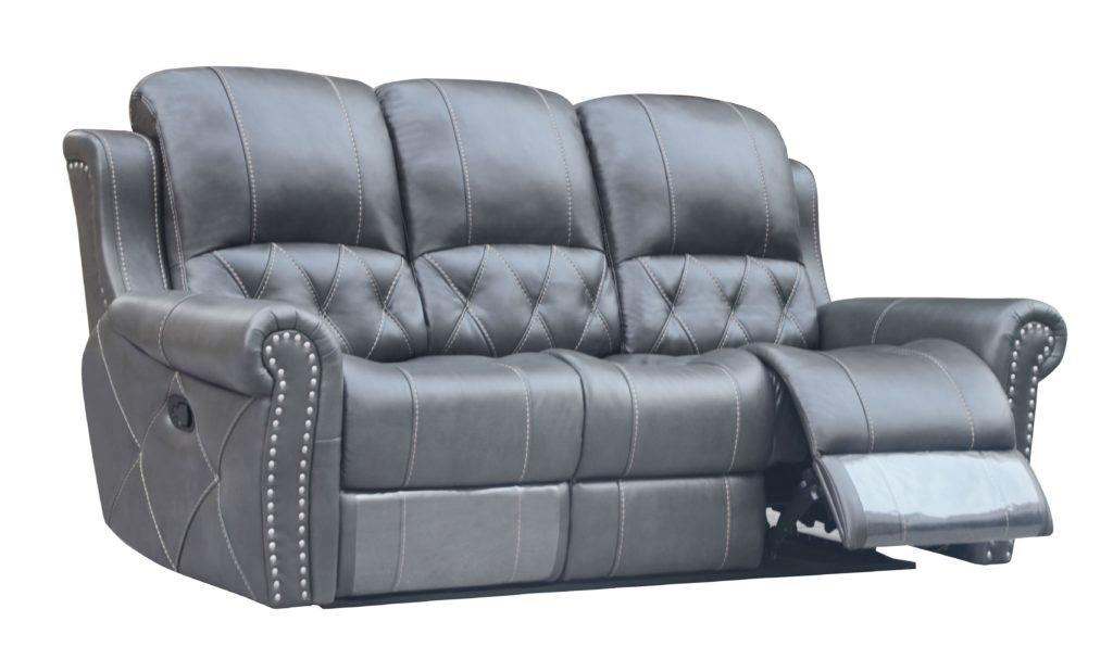 Hunter Reclining Sofa Leather Air Code G12 Gray