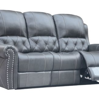 Hunter Reclining  Sofa  – Leather Air Code #  G12 Gray