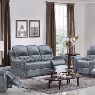 HR059 (G12) Husky Furniture Hunter Reclining Sofa Set Gray