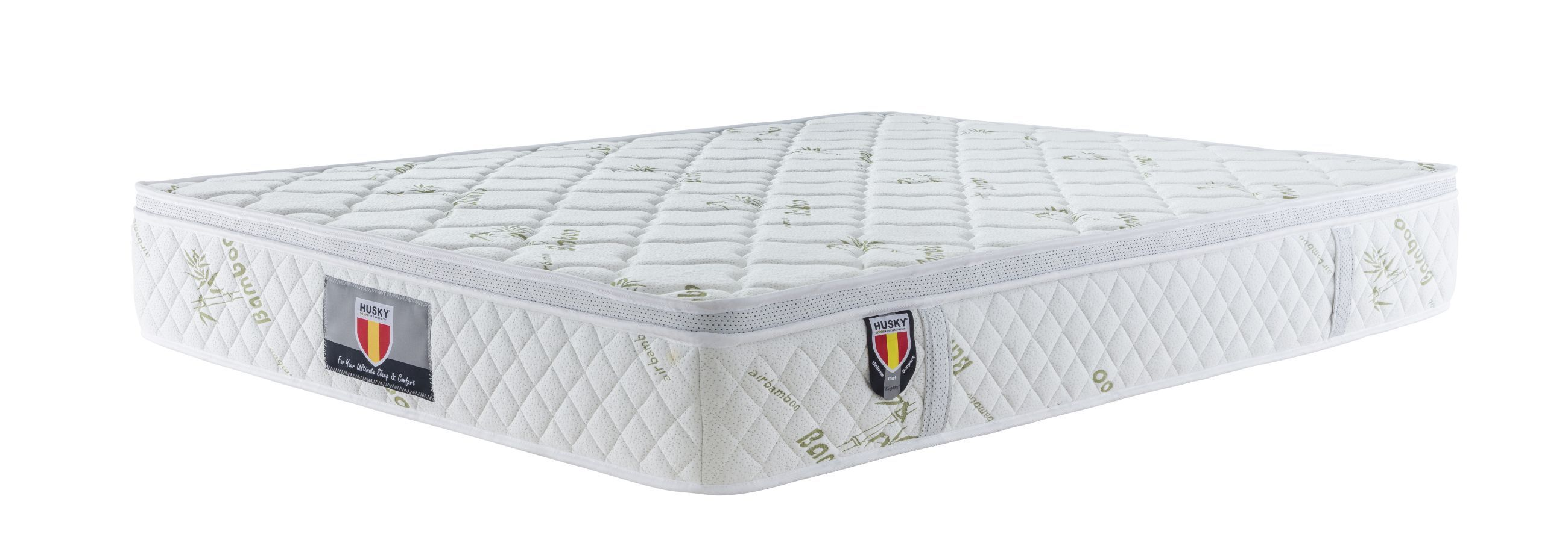 4 Kingdom Husky Furniture And Mattress Five Star Comfort Pockect Coil Bambo Cover Euro Pillow Top