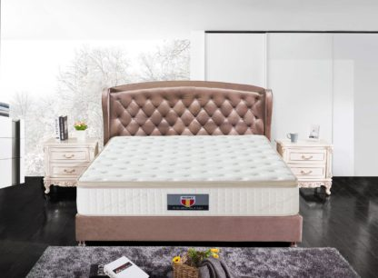 5 Trinity Husky furniture and Mattress five star comfort Pockect coil Organic Cotton with Gel meomory foam euro Pillow top mattress 5