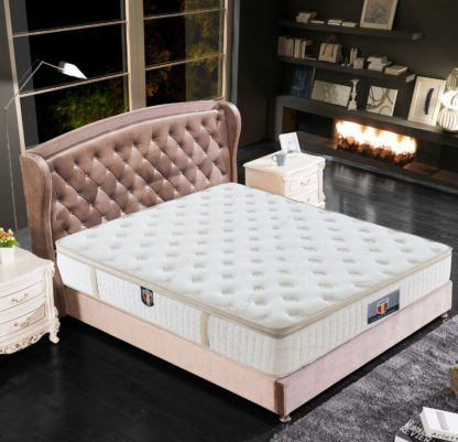 5 Trinity Husky furniture and Mattress five star comfort Pockect coil Organic Cotton with Gel meomory foam euro Pillow top mattress 6