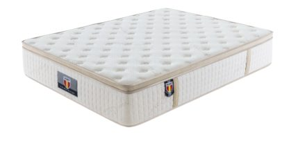 5 Trinity Husky furniture and mattress five star comfort Pockect coil Organic Cotton with Ble Gel meomory foam euro Pillow top mattress