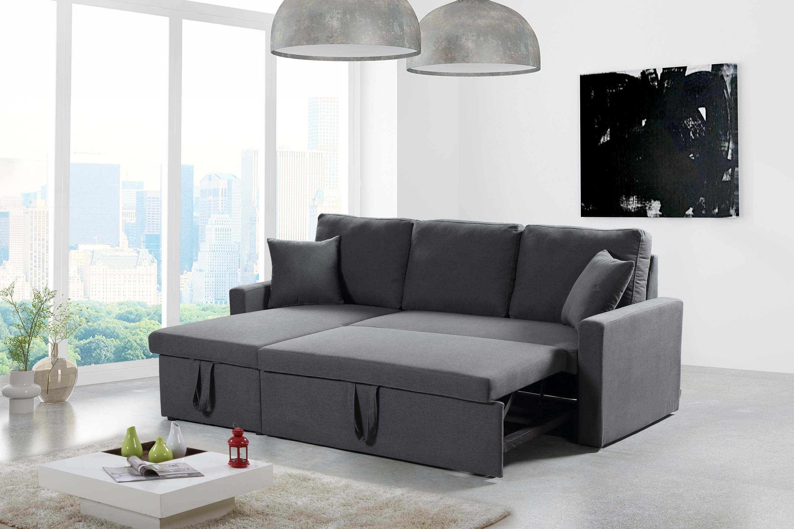 Astonishing Zara Reversible Sectional Sofa 3 In 1 Sofa Bed Storage Charcoal Download Free Architecture Designs Intelgarnamadebymaigaardcom