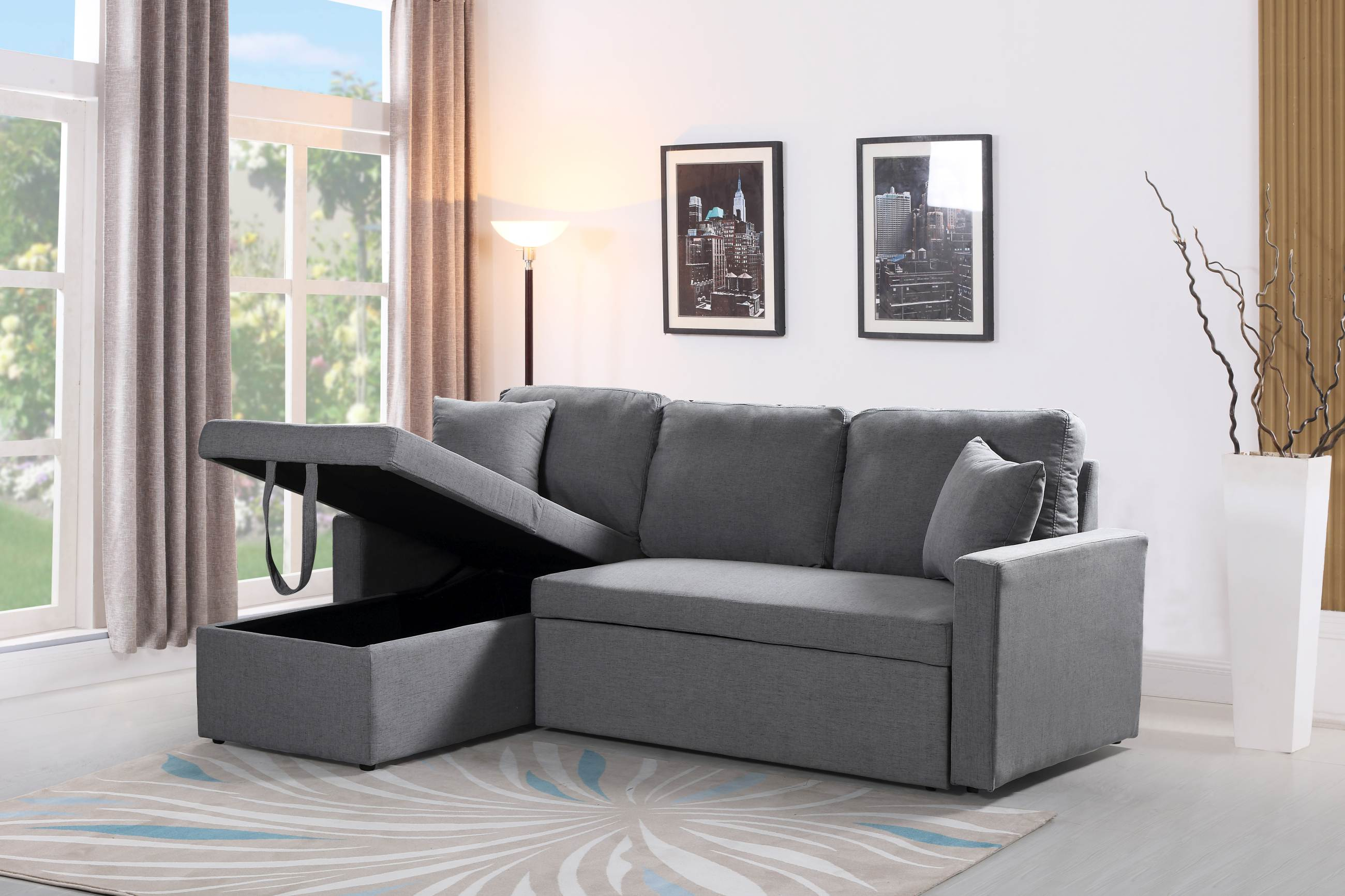 Husky 174 Reversible Sectional Sofa Bed Free Shipping In Canada