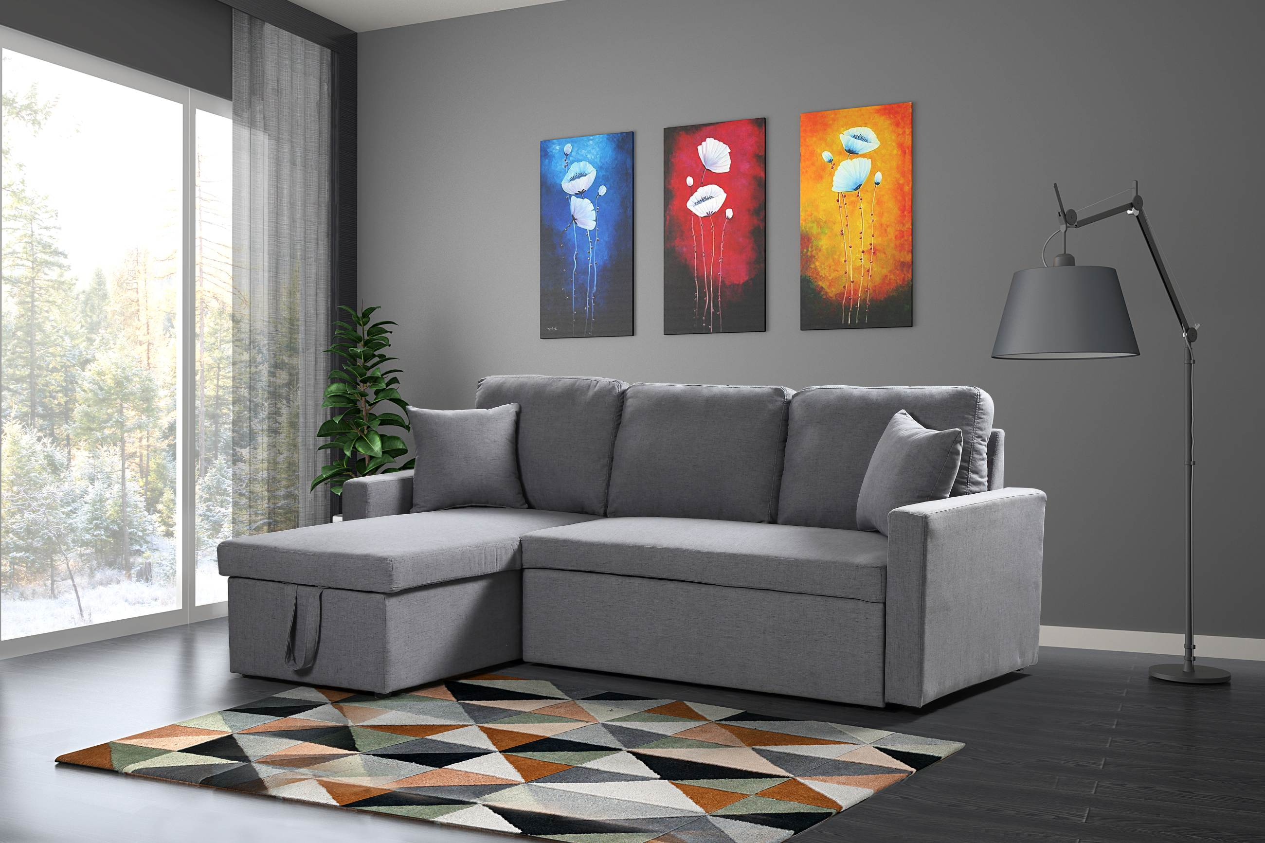 Husky Furniture Zara Reverseable Sectional Sofa