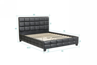 Amelia Double Bed - 8002 -Husky-Furniture- Single - Double -Queen- King-Black