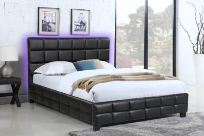 Amelia Queen, Double Bed - 8002 -Husky-Furniture- Single - Double -Queen- King-Black-2