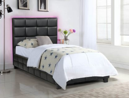 Amelia Single Bed - 8002 -Husky-Furniture- Single - Double -Queen- King-Black-2