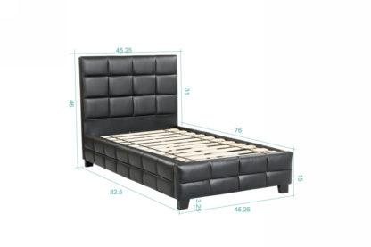 Amelia Single Bed - 8002 -Husky-Furniture- Single - Double -Queen- King-Black
