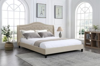 King Twilight Bed - 013-Husky-Furniture- Queen and King- Beige-2