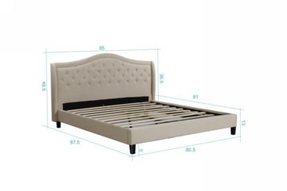 King Twilight Bed - 013-Husky-Furniture- Queen and King- Beige
