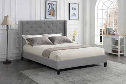 Queen Megan Bed- 007-Husky-Furniture- Queen and King- Grey-2