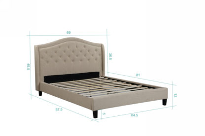 Queen Twilight Bed- 013-Husky-Furniture- Queen and King- Beige