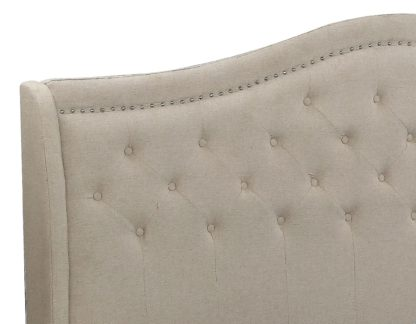 Queen Twilight Bed - 013-Husky-Furniture- Queen and King- Beige-Headboard