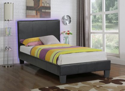 Value Bed 8079-Husky-Furniture- single,twin Double,full- Black-2