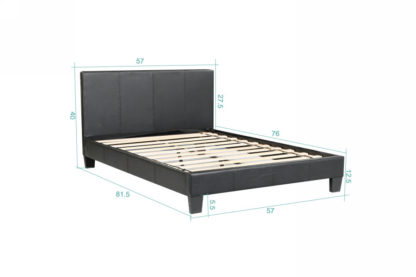 Value Bed 8079-Husky-Furniture- single,twin Double,full- Black-4