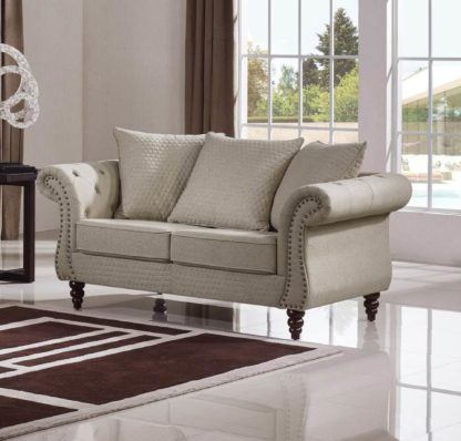 HD1769 -Tessa Loveseat- Sand-K06.Fabric .Husky Designer Furniture