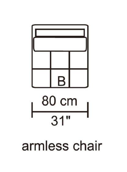 HD1800 - Leggo - Armless Chair.Husky Designer Furniture
