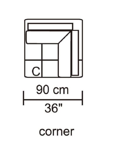 HD1800 - Leggo - Corner.Husky Designer Furniture