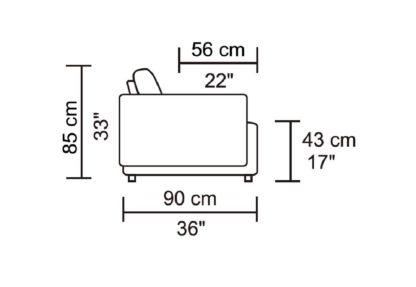 HD1800 - Leggo - Dimentions.Husky Designer Furniture