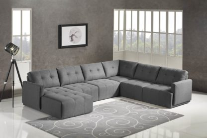 HD1800 - Leggo - sectional sofa LHS-Grey.Husky Designer Furniture