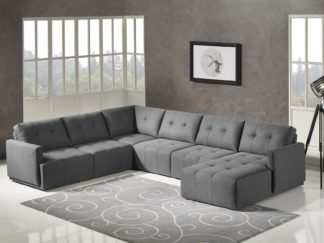 HD1800 - Leggo - sectional sofa RHS-Grey.Husky Designer Furniture