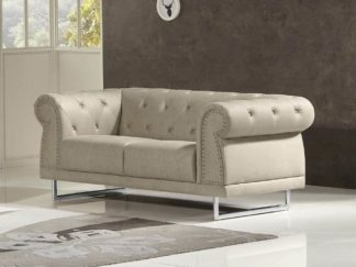 HD1809 - Mason LOVESEAT .Beige -G01- Leather .Husky Designer Furniture.1