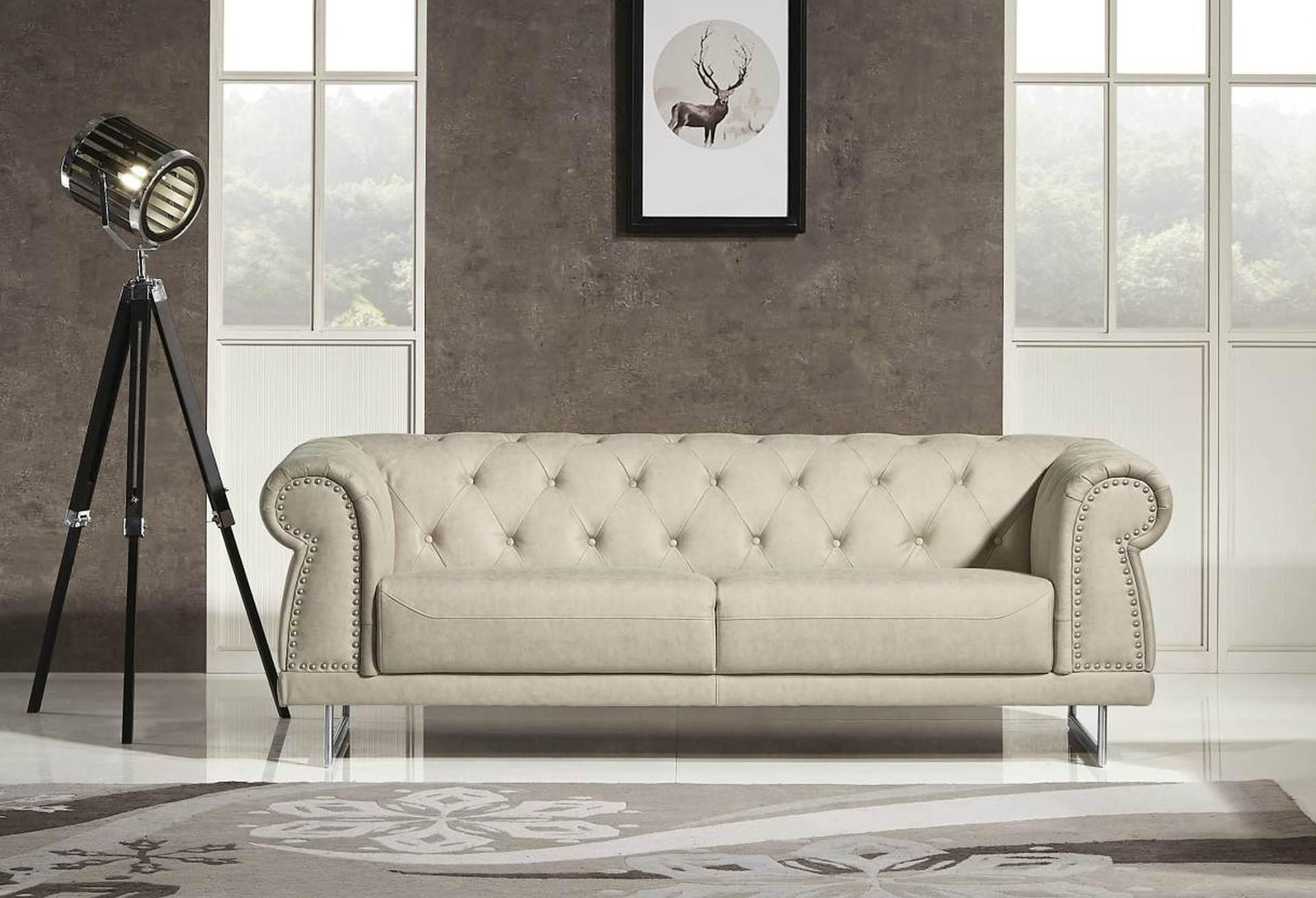 Mason Designer Sofa Leather Air Code G01 Beige Husky