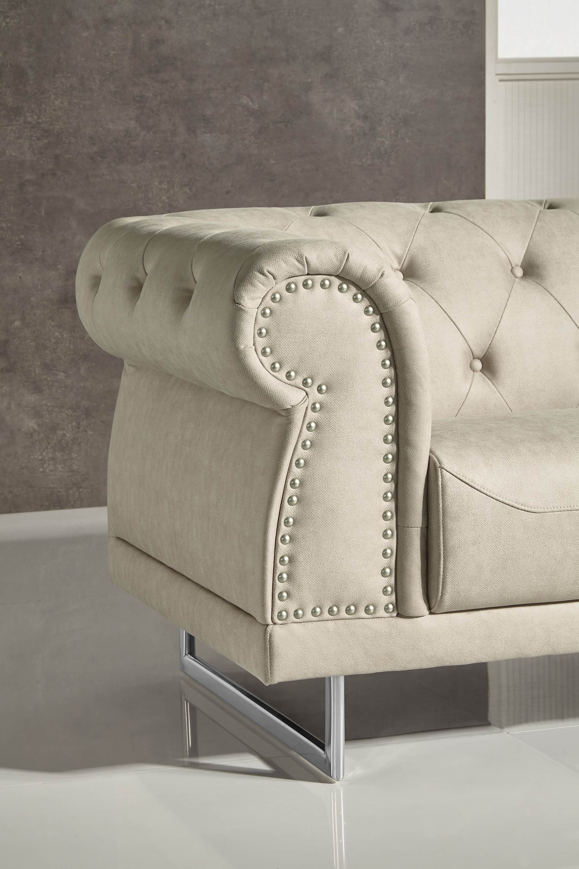 Surprising Mason Designer Sofa Leather Air Code G01 Beige Pabps2019 Chair Design Images Pabps2019Com