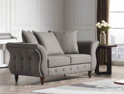 HD1811 -Jesse LOVESEAT- Taupe-K25.Fabric .Husky Designer Furniture.Sofa and loveseat.2