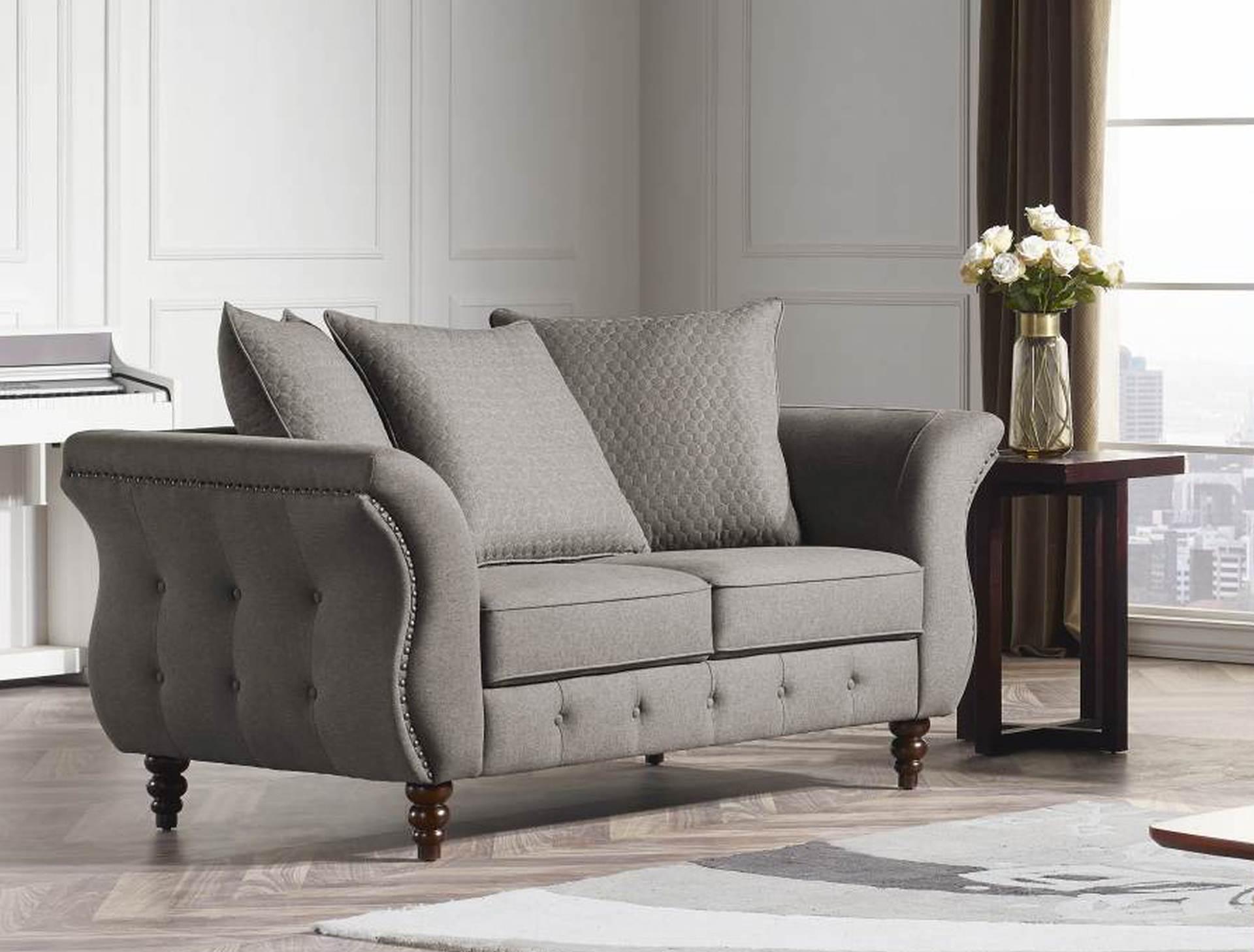 Jesse Designer 3 Pc Sofa Set Fabric Code K25 Taupe Husky