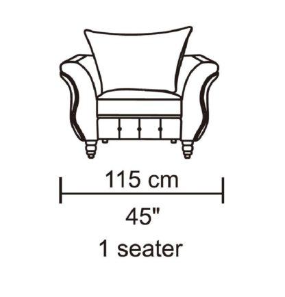 HD1811 -Jesse- Taupe-K25.Fabric .Husky Designer Furniture.Chair